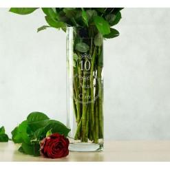 """Именная ваза для цветов """"С годовщиной"""""""