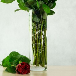"""Именная ваза для цветов """"Свадебная"""""""