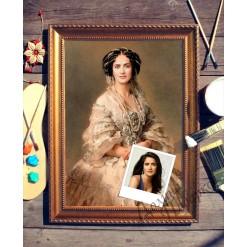 Портрет по фото *Дама в жемчуге*