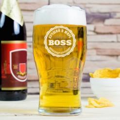 """Именной Бокал """"Лучший в мире Boss"""""""