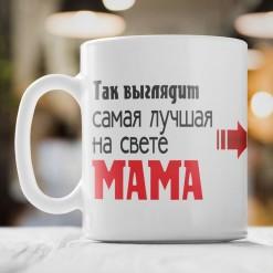 Кружка *Так выглядит лучшая мама* с фото
