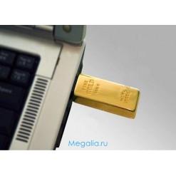 "Флешка 16 ГБ ""Золотой слиток"""