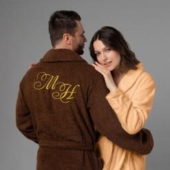 """Комплект халатов с вышивкой """"Инициалы"""""""
