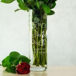 """Именная ваза для цветов """"Поздравительная"""""""