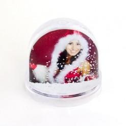 Персональный водяной шар со снежинками