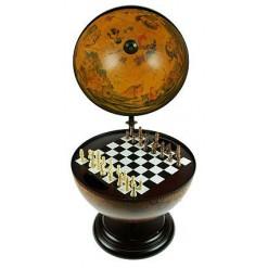Интерьерный глобус с шахматами