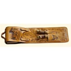 Шампурница подарочная в чехле-колчане с ножами