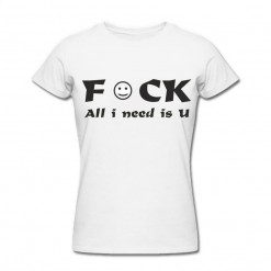 Футболка *All i need is U* женская