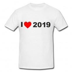 Футболка *I love 2019* мужская