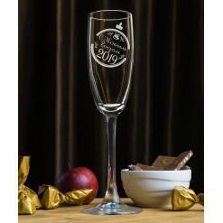 """Фужер для шампанского """"С Новым Годом"""""""