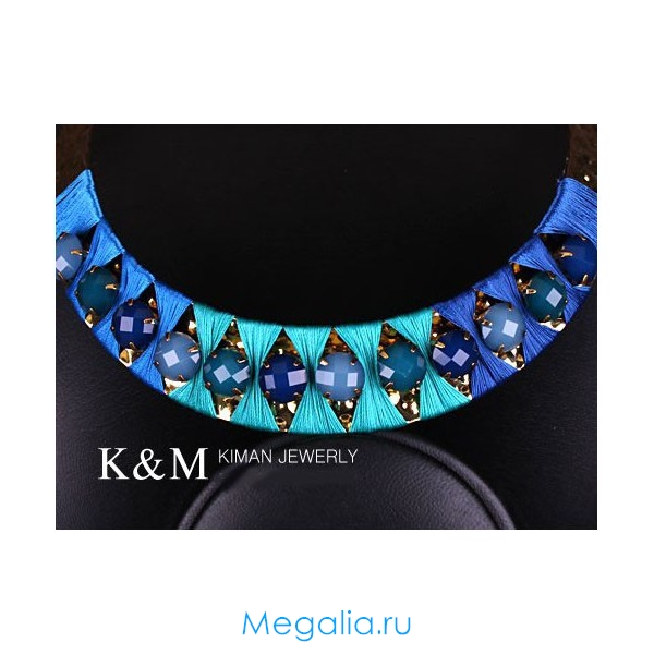 Ожерелье Синеглазка Kiman по заказу Мегалиа