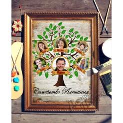 Картина *Семейное древо* с фото