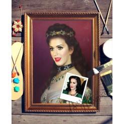 Портрет по фото *Девушка с изумрудами*