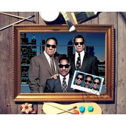 Тройной портрет по фото *Друзья*
