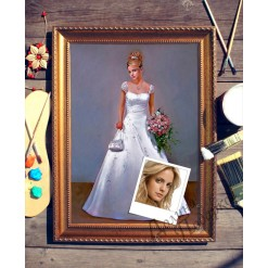 Портрет по фото *Невеста*