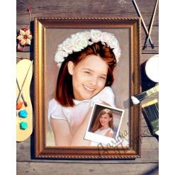 Портрет по фото *Девочка в белом*