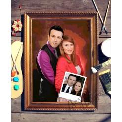 Парный портрет по фото *Влюбленная пара*