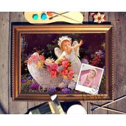 Портрет по фото *Маленький ангелочек*