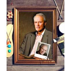 Портрет по фото *Мужчина с книгой*