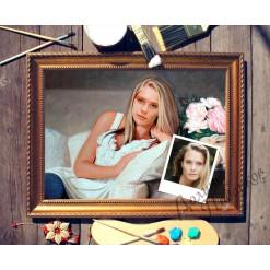 Портрет по фото *На диване*