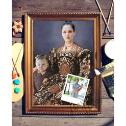 Парный портрет по фото *Мама с ребенком*