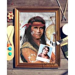 Портрет по фото *Индеец*