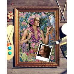 Портрет по фото *Цветы*