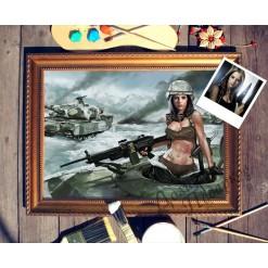 Портрет по фото *Девушка в танке*