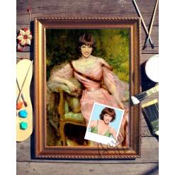 Портрет по фото *Девушка в розовом*