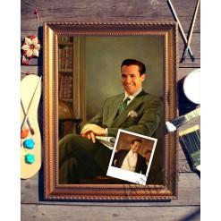 Портрет по фото *Мужчина с газетой*