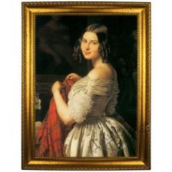 Портрет по фото *Молодая женщина и цветы*