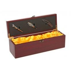 Винный набор - кофр коричневый на 3 предмета