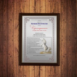 Диплом *Сертификат на право быть всегда на коне*