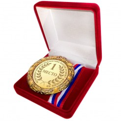 Медаль *Мужчины нашего коллектива всегда ставят женщин на I место*