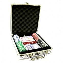 Набор для покера в кейсе на 100 фишек