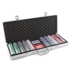 Большой набор для покера в кейсе на 500 фишек