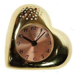 """Часы - будильник """"Золотое сердце"""""""