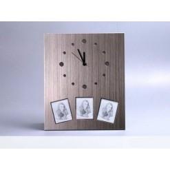 Часы с тремя фоторамками