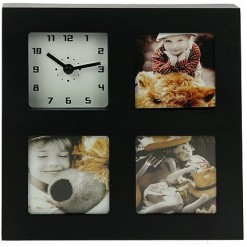 Настольные часы - фоторамка (коричневые)