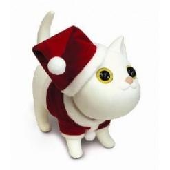 Новогодний котенок - копилка белого цвета
