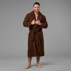 Мужской халат со своим текстом вышивки