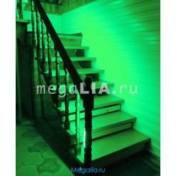 Подсветка лестницы 60 цветов