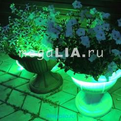 Подсветка клумбы 60 цветов