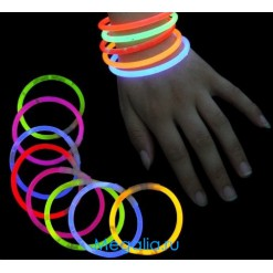 Светящиеся палочки-браслеты 20 см (100 штук)