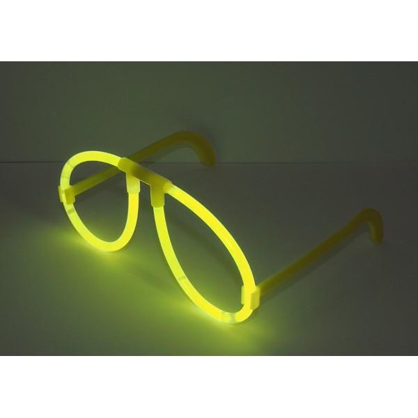 неоновые очки желтые