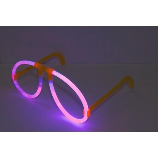 неоновые очки розовые