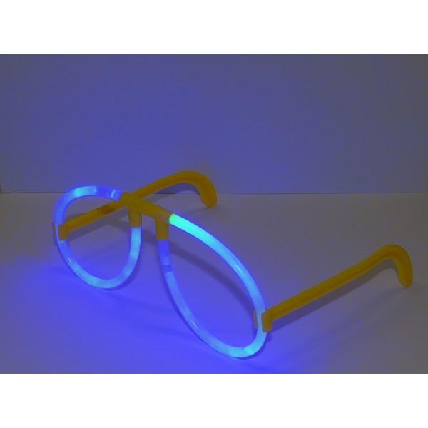 неоновые очки синие