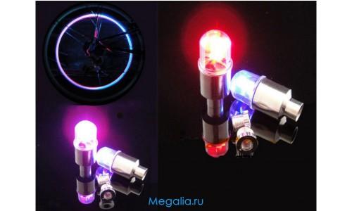 Подсветка велосипеда на ниппель колеса