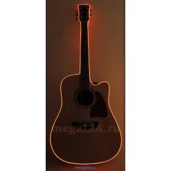 Неоновый шнур для гитары 3 метра, цвет оранжевый