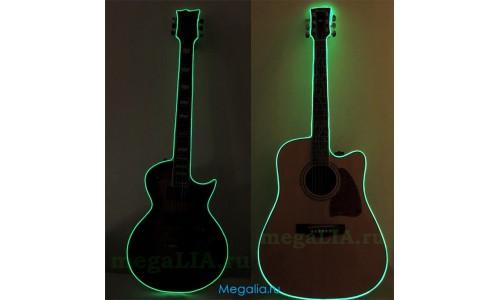 Подсветка гитары неоновым шнуром (3 метра)